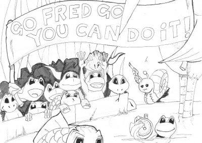 Illustration for children's book 'FrogIt'